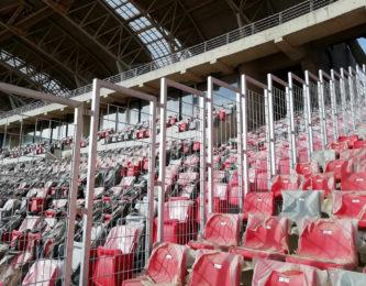 Grilles anti-franchissement de sécurisation au stade d'Oran